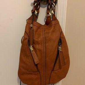 orYany brown Italian leather bag